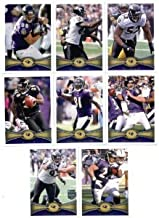 2012 Topps Baltimore Ravens SUPER BOWL CHAMPIONS Complete Team Set - 17 cards including Flacco, Ray Rice, Ray Lewis, Ed Reed, Ngata, Pierce RC, Upshaw RC, Streeter RC, Osemele, RC and more shipped in an acrylic case