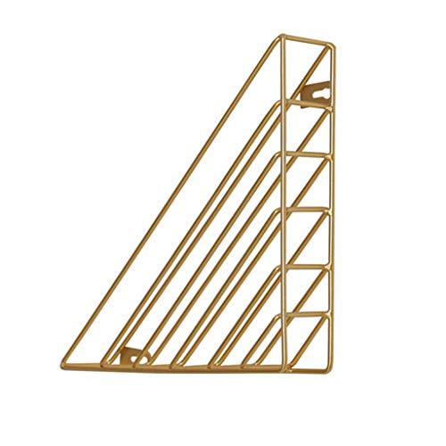 CHX Scaffale Scaffale Galleggiante Libro di Ferro Libri di casa ristrutturazioni Decorazione Libreria Triangolare 23x23x5cm V (Colore : Oro)
