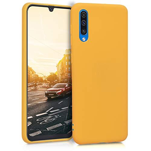 kwmobile Coque Compatible avec Samsung Galaxy A50 - Housse de téléphone Protection Souple en Silicone - Miel