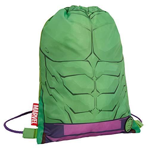 Boys Marvel Hulk Drawstring Gym Bag Avengers Sports Swimming PE Kit Backpack