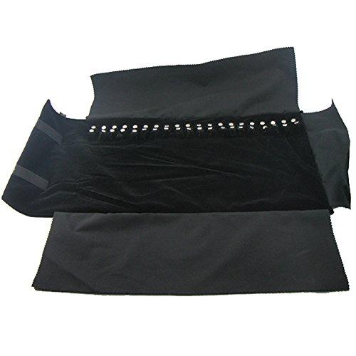 Gergxi Joyería Nylon Roll Organizador Bolsa Collar Pulsera Llevar Caso Display Holder