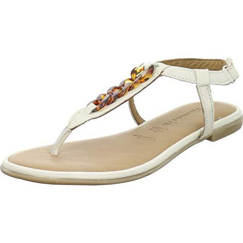 Tamaris Damen 1-1-28160-24 418 Sandale, Ivory, 41 EU