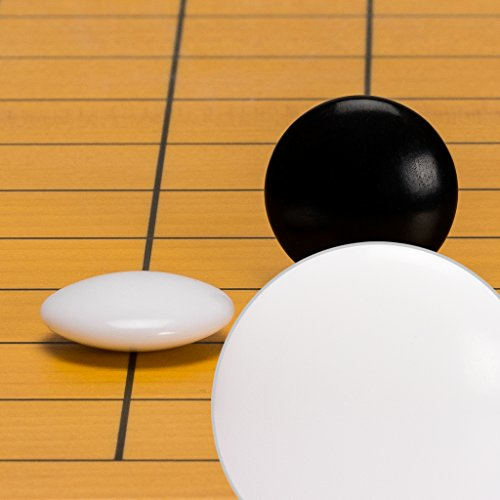 Yellow Mountain Imports Melamine Double Convex Go Game Stones Set - 7.5-Millimeter (Size 28)