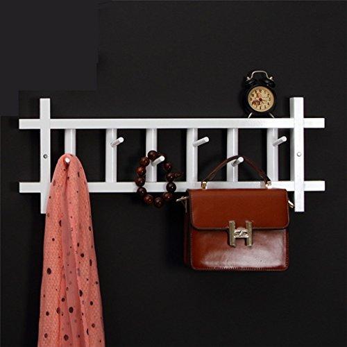 SKC Lighting-Porte-manteau TV Wall Wall porte Racks Chambre Tenture murale Rack de stockage (60CM, 80CM) Miel Couleur, Blanc, Couleur du bois (Couleur : Blanc, taille : 60 cm)