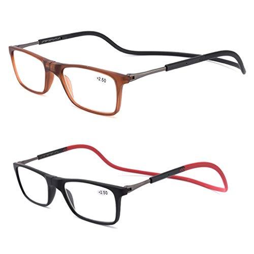 Leesbril Ling AI DA MAI leesbril voor dames, modieus, verstelbare beugel, magnetisch, hangende hals, dames, leesveer, scharnier, reflecterend