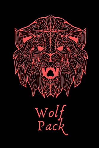Wolf Pack: Black and Red 6x9 Lined Warrior Notebook | Journal | Diary for Scout or Pack Activity Planning