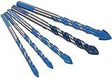 Juego de 5 brocas triangulares con punta, brocas giratorias multifuncionales para perforar, herramientas de trabajo para baldosas, hormigón, ladrillo, vidrio, plástico, madera y cerámica