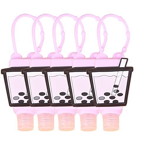 N/D Sweetlibra 5PC Armband 𝓗ändedesinfektionsmittel Spender für erwachsene Kinder, 𝓗ändedesinfektionsmittel Spender Tragbares Armband Armband Handspender für Männer Frauen Jungen Mädchen