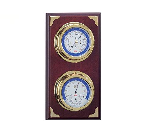 Montre station météo nautique, baromètre et station météo, avec baromètre et thermomètre hygromètre de 39 cm. Station météo intérieur extérieur
