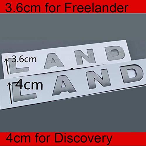 3.6cm 4cm Letras Emblema para LandRover Freelander 2 3 Descubrimiento Car Styling Reajuste Capó Pegatina del Logotipo del Maletero Gris Original, 4cm para Discovery, Gris Mate x 2 Piezas