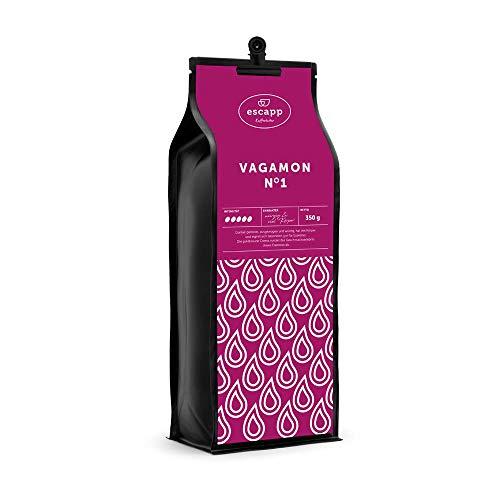 escapp Länderkaffee Indien VAGAMON N°1 / ganze Bohne / 350 Gramm / handgeröstet / magenschonender PREIUM Kaffee / frische säurearme Langzeitröstung