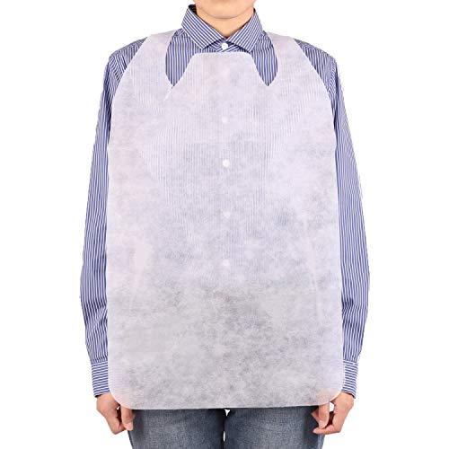 使い捨てエプロン 襟元カバー付き 125枚 (白) 紙エプロン 使い捨て 大人 不織布素材 業務用 介護 エプロン