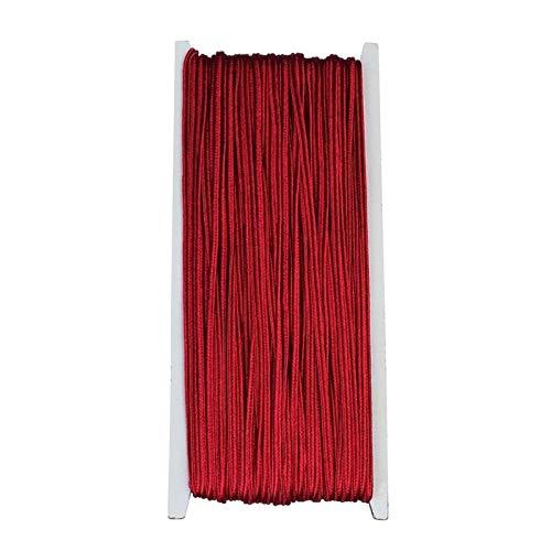 LCHB - Cordón de nailon multicolor de 3 mm para hacer pulseras y collares (color: carmesí)