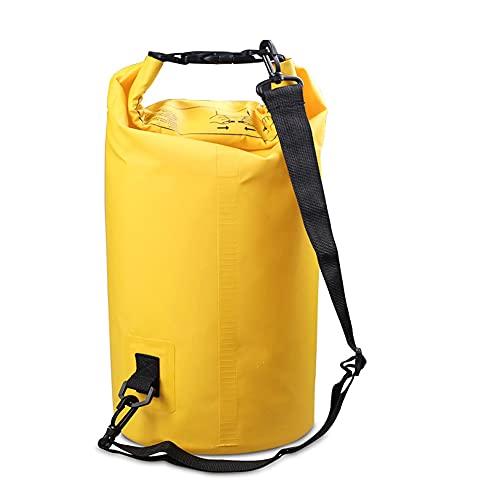 Qewrt Bolsa Seca Impermeable de PVC 10L / 20L Bolsillo de Almacenamiento de Buceo al Aire Libre para Hombres Mujeres Natación Rafting Kayak Canotaje Senderismo en el río