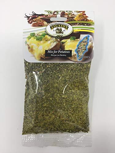 authentische Gewürzmischung für griechische Brat-, Grill- und Ofenkartoffeln 50 g von AIGAION / Rhodos