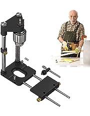 lefeindgdi Houtbewerking boren Locator Tool Kit, Verstelbare Punch Locator Drill Template Guide, Mini Bench Drill Press Machine met hoge snelheid, De beste houtbewerking boor Locator in 2021