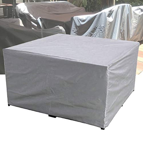 Patio Furniture Covers Waterproof, Outdoor Sectional Furniture Set Cover, Rectangle Garden Furniture Covers Oxford Cloth Snow Dust Wind Proof Anti-UV, Silver (Size : 86x86x36cm)