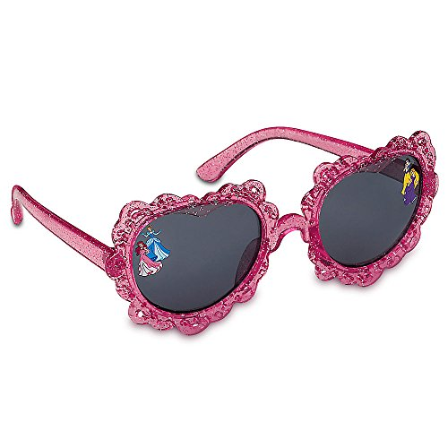 Disney Store Princess Snow White, Rapunzel, Ariel, Cinderella Heart-Shaped Sunglasses for Kids