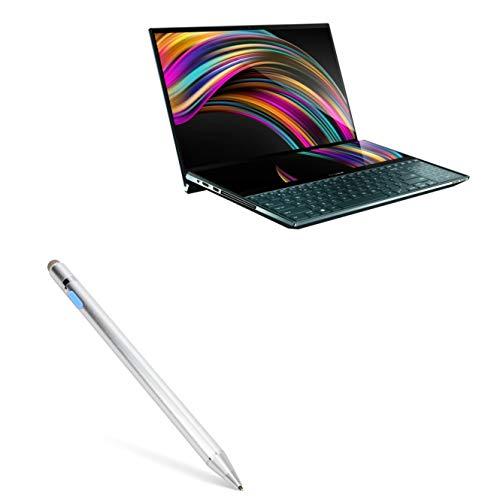 Caneta Stylus ASUS ZenBook Pro Duo UX581GV, BoxWave [AccuPoint Active Stylus] Stylus eletrônica com ponta ultrafina para ASUS ZenBook Pro Duo UX581GV - Prata metálica