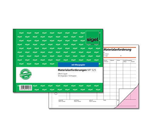 SIGEL MF525 Materialanforderung A5 quer, 2x50 Blatt