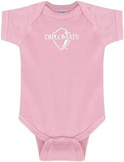 Franklin & Marshall Light Pink Infant Onesie 'Diplomats Official Logo'