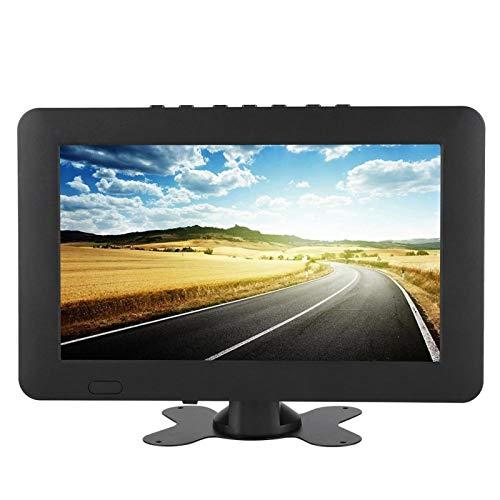 TV Digital portátil, TV Digital con Soporte LEADSTAR ISDB-T, Equipado con Soporte y Cargador de Coche de 12 V, sintonizador de Alta sensibilidad, TV Digital TFT-LED Recargable