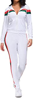 Women Sweatsuits Sets Casual Two Piece Tracksuit Zip Up Hoodie and Long Pants Set with Pockets