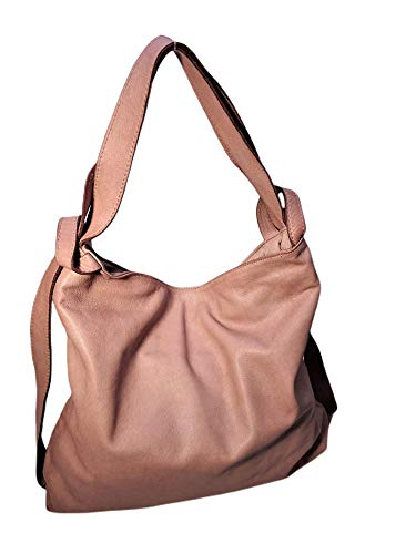 Brakumi Bolsos de Piel genuina Mujer Bolso de compras Mochila Hombro Suave grande Mochila transformable Cuero Vintage Trabajo PC Bag Black Outlet