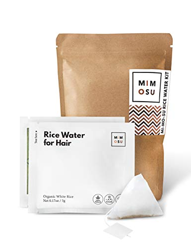 Rice Water for Hair Growth DIY Tea Bags, Natural Deep Conditioner & Detangler, Nourished Organic Rice Protein to Help Regrowth & Repair Damaged Hair, Curly Girl Method Fermented Rice Water Hair Growth
