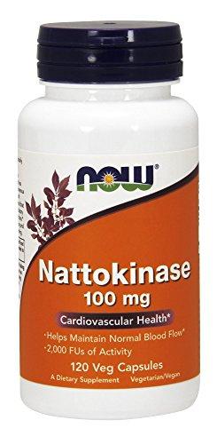 NOW® Nattokinase, 100 mg, 120 Veg Caps