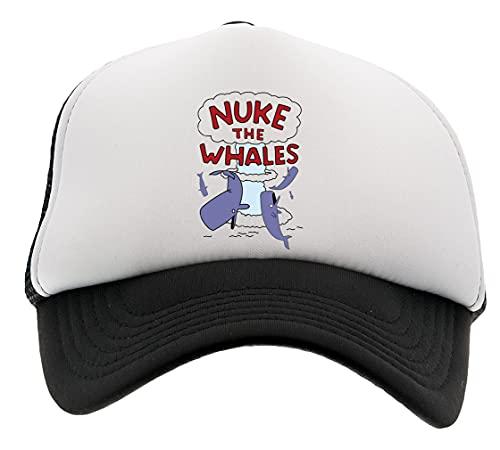 Nuke The Whales Chico Niña Niños Unisexo Gorra de Beisbol Blanco Negro Boy Girl Kids Unisex Baseball Cap Black White