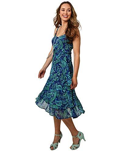 Joe Browns Damen Awesome Dress Lssiges Kleid, A-Blau Multi, 38