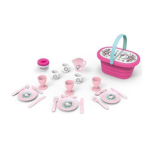 Smoby - Hello Kitty Picknickkorb und 20 Zubehörteile 310535