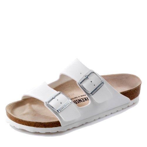 BIRKENSTOCK Pantolette Arizona weiß Gr. 35-48 051731 + 051733, Größe + Weite:44 normal, Farben:Weiß