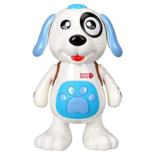 Boneco Cachorro Cão Dançarino Com movimento, Luz E Som brinquedo para crianças estimula a cognição ótimo presenti crianças cachorrinho de brinquedo meninos cor azul