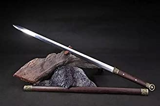 Chinese Sword/Han jian/Carbon Steel Material/Rosewood Scabbard/Full Tang/Alloy Fitted/Length 39