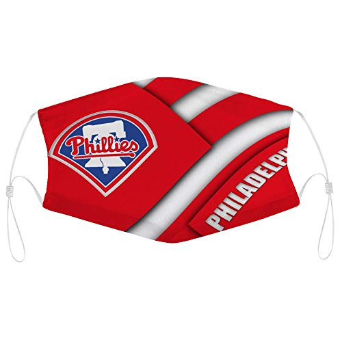 Philadelphia Phillies Baseball Team Logo Bandanas Face Mask Headwear Balaclava Face Cover Neck Gaiter for Outdoors, Sports