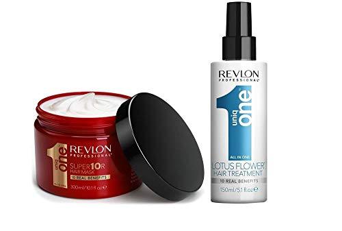 Revlon Uniq One super10r Hair Mask 300ml + lotus flower Hair Treatment 150ml