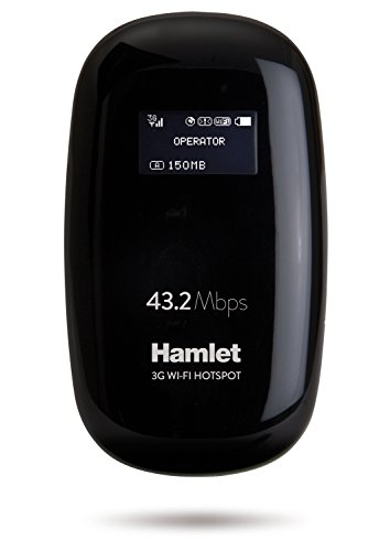 Hamlet htspt3gm42 Router Hotspot 3 g GSM 43,2 Mbps Card Reader SIM met OLED-display en Micro SD Sharing
