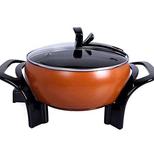 CoruPC Hot Pot Elektrische barbecue, moderne Hot Pot Hot Pot Hot Pot Pan zonder rook, anti-aanbaklaag, Fryer stoofoven POT koken 4Lcoffee color
