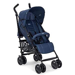 Chicco London – Silla de paseo ligera, solo 7.2 kg, compacta y manejable, color azul (Blue Passion)