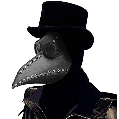 miuline Halloween Maske, Schnabelmaske, Mittelalter Maske Doktor Arzt Kopfmaske Steampunk Kostüm Zubehör für Erwachsene Halloween Party Fasching Karneval (Typ 2)