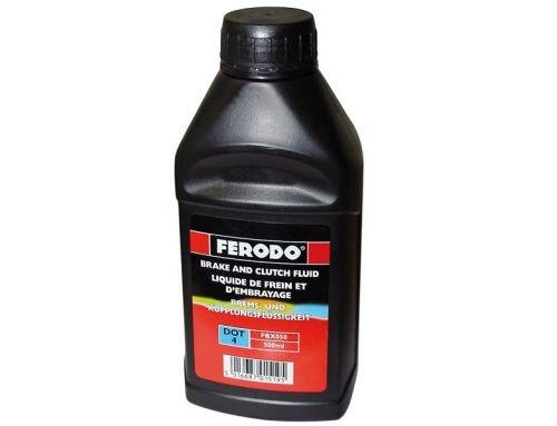 500 ml Bremsflüssigkeit Ferodo DOT 4 für Roller Motorrad Quad