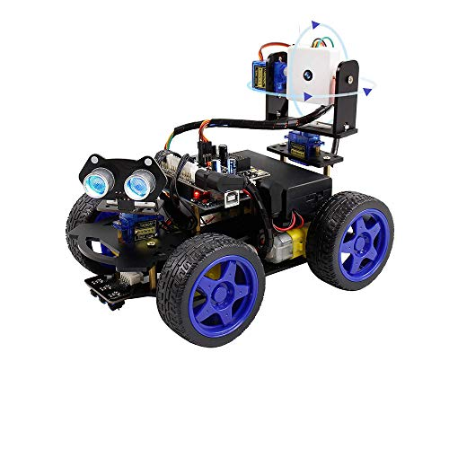 KKmoon Smart Robot Car Kit Wifi Cámara Control remoto STEM Education Toy Car Robot Kit Compatible con Arduino Learner Support Scratch DIY codificación para niños adolescentes adultos