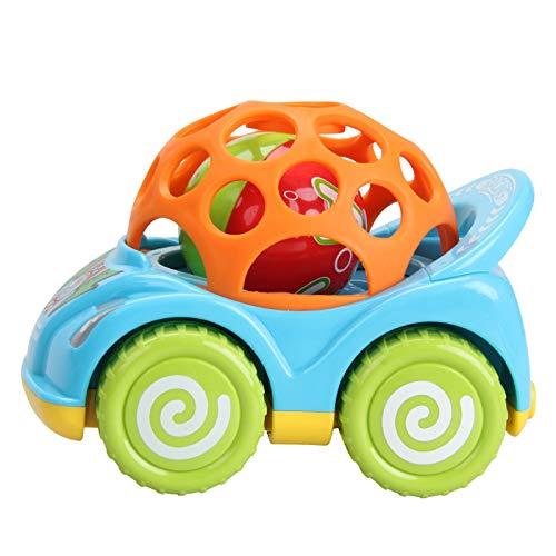 QJJ Protección del medio ambiente Baby Comfort Cartoon Lion Tire hacia atrás deslizante mano sonajero bola coche recién nacido bebé juguete (tamaño: A)