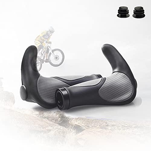 MTB Grips, BMX Bike Ergonomic Handlebars Grips Non-Slip BMX Handle Grips Mountain Bike Handlebar Grips Bionic Grips Shock Resistance Bicycle Rubber, Suitable for 22.2mm MTB, BMX Handlebar
