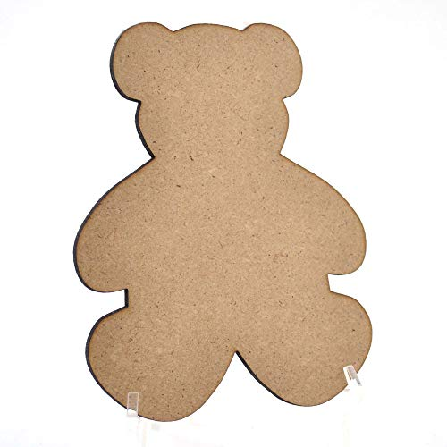 Lasercutouts Teddybär-Formen aus Holz, MDF, 70 mm, 10 Stück