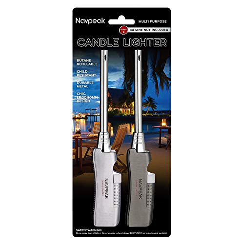 Navpeak Lighter Pack Long Neck Candle Lighter for Cooking BBQs Fireworks Kitchen Fireplace Pilot Stove (NO Gas in IT)
