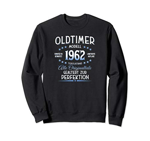58. Geburtstag Geschenk Oldtimer Jahrgang 1962 Sweatshirt