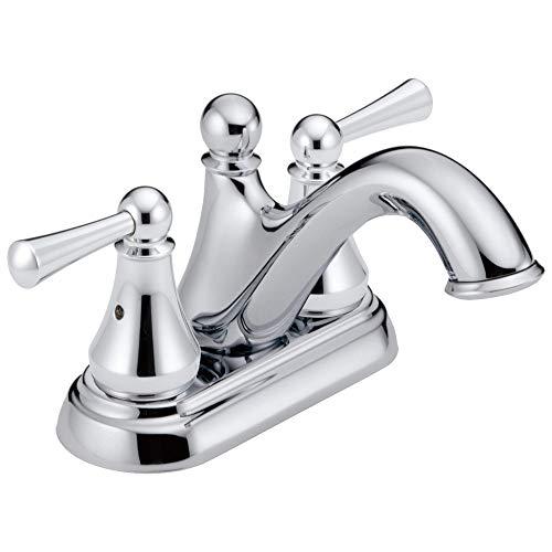 DELTA Haywood Centerset Bathroom Faucet Chrome, Bathroom Sink Faucet, Drain Assembly, Chrome 25999LF